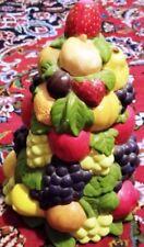 "Vintage 12"" Ceramic Fruit Centerpiece Statue"