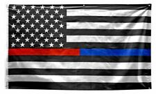 Thin Red & Blue Line 3ft x 5ft American Flag 3' x 5' Police Fire Man Firefighter
