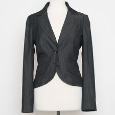 Trina Turk Charcoal Pinstripe Short Blazer Size 6