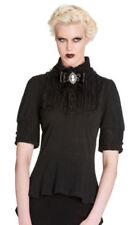 Camisas y tops de mujer de manga corta negros Hell Bunny