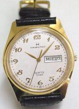 N.O.S. VINT 80s HAMILTON 9956 SWISS WATCH, MEN´S, DATE DAY, ST ST G/P WR, QUARTZ