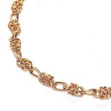 Collier chaîne ras de cou maille byzantine alternée couleur or 39cm bijou A3