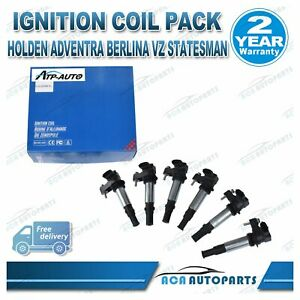 6 Ignition Coil Coils for Holden Commodore VZ V6 Caprice Statesman WM WL 3.6L