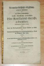 Rechtswissenschaft - Recklinghausen - Cölln. Rechtsstreit. Seltener Druck 1760