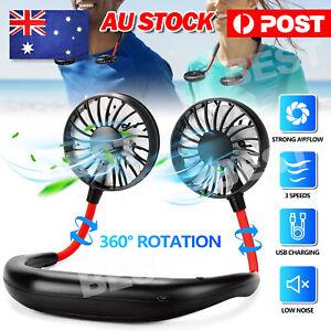 Hanging Neck Fan Travel USB Charging Portable Fan Lazy Creative Sports Fan Tool