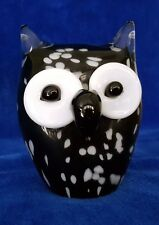 Black & White Asio Piebald Owl  Figurine or Paperweight 9cm Heigh