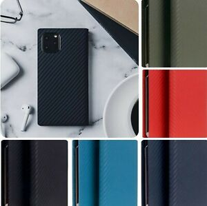 SLG Italian Carbon Leather Diary Flip Wallet Case Cover Card Slot iPhone 11