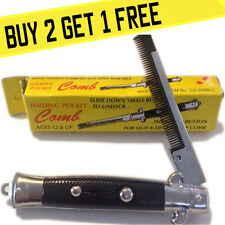 Push Button Pocket Comb Fake Switch Blade Folding Knife - BUY 2 GET 1 FREE!!