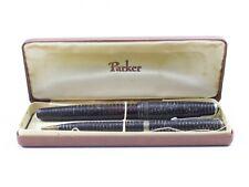 """Vintage Parker Vacumatic Fountain Pen Set w/ Pencil USA 5.25 & 5"""""""