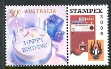 2006 STAMPEX 50c Happy Birthday MUH With Personalised Tab