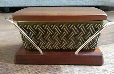 Wyncraft Lord Nelson Green Ceramic Butter Dish Vintage 1960's Retro Collectable