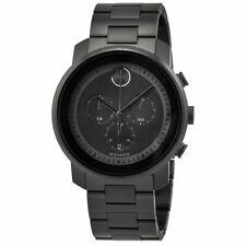 Movado Bold Black Leather Unisex Watch 3600005