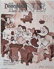 RARE NOV 1983 DISNEYLAND LINE CAST NEWSLETTER SNOW WHITE THANKSGIVING COVER