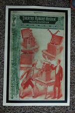 Robert Houdin magician poster #2 1885 Prestidigitation