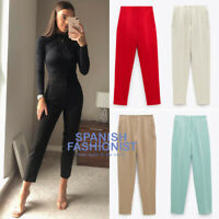 ZARA WOMAN NEW SS20 HIGH-WAISTED PANTS in 5 COLORS ALL SIZES REF: 7102/032