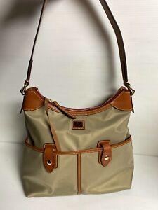 Dooney & Bourke Wayfarer Zip Hobo Shoulder Bag Purse Taupe