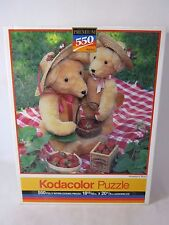 Kodacolor Rose Art 550 Piece PUZZLE Strawberry Bears Sealed 1991 99999