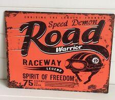 """Vintage Retro Anuncio """"Demonio Rojo Velocidad viajero frecuente"""" Metal placa/cartel 26x30cm"""