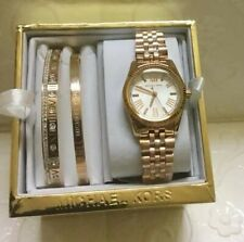 Michael Kors Mini Lexington  Rosegold-tone Watch and Bangle Set
