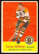 1957-58 TOPPS HOCKEY #17 LARRY HILLMAN RC VG-EX BOSTON BRUINS ROOKIE CARD