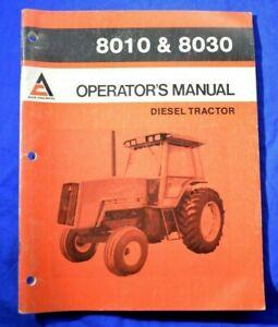 1983 ALLIS CHALMERS 8010 8030 DIESEL TRACTOR Original OPERATORS MANUAL Book