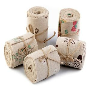 Wide Burlap Hessian Jute Cotton Ribbon width 60 mm x 3 Metres Rustic Decor Gifts