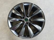 "21"" TESLA MODEL S TURBINE WHEELS FOR POWDER COAT EXCHANGE"