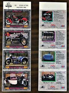 American Vintage Cycles 4 card uncut promo sheet