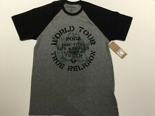 TRUE RELIGION ROCK TOUR RAGLAN CREW NECK MEN PREMIUM GRAPHIC T SHIRT NWT 2XL $79