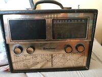 Vintage FIRESTONE 4 C-30 BC-SW short wave Portable Tube Radio TESTED WORKING