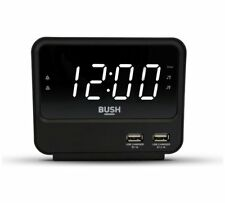 Bush FM USB Clock Radio Favourite Radio Stations Thanks To The Built-In FM Black