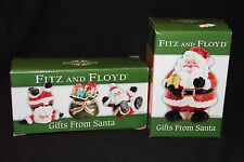 Fitz And Floyd Lot of 2 Nib Gifts from Santa Lidded Box & Tumblers Figurines