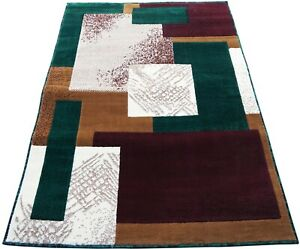 """4x6 Area Rug Green, Red Carpet rectangles Floor Covering Home Decor 3'11"""" x 5'2"""""""