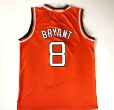 Custom Rucker Bryant #8 Entertainers Basketball Jersey Stitched Orange S-3XL