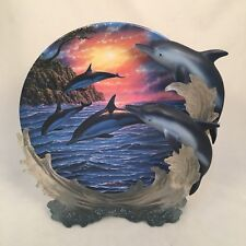 "1998 The Hamilton Collection Plate ""Sunset Ballet"" Anthony Jones Serenity At Sea"