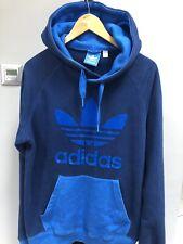 Mens Adidas Big Trefoil Velvet Logo Vtg Sweatshirt Sports Jumper Top Medium