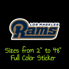 Los Angeles Rams Full Color Vinyl Decal   Hydroflask decal   Cornhole decal 4