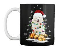 American Eskimo Dog Christmas Light Gift Coffee Mug