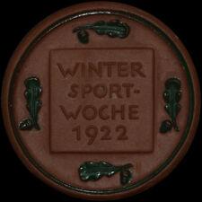 GARMISCH-PARTENKIRCHEN: Medaille 1922. DEUTSCHE KAMPFSPIELE - WINTERSPORTWOCHE.