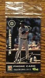 1996 Classic 7 ELEVEN Phone Cards #5 Ken Griffey Jr. STILL SEALED IMPOSSIBLE!
