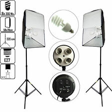 Kit DynaSun KSHK400 1600W 50x70cm E27 4in1 avec 2x Trépied 2x Softbox 8x Ampoule