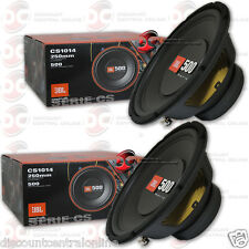 2 x BRAND NEW JBL CS1014 10-INCH SINGLE 4-OHM CAR AUDIO SUB WOOFER 125W RMS