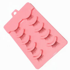 Mini 5 Pairs Half Corner Cross False Eyelashes Eye Lashes Makeup Tool 2016 New