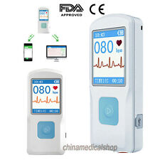 Handheld Portable ECG/EKG Machine Electrocardiogram Heart Beat Monitor USB FDA