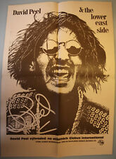Original POSTER: DAVID PEEL & THE LOWER EAST SIDE A2 Size GLOBUS INT'L 1990 @n/m