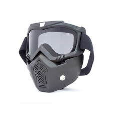 Completo Máscara & Goggles con AHUMADO Cristal para motero ' ABIERTO CASCOS