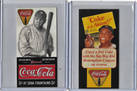 Babe Ruth Willie Mays Coca Cola Advertising Card