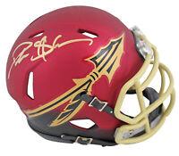Florida State Deion Sanders Signed Blaze Speed Mini Helmet BAS Witnessed