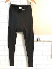 Womens Small Cycling Biking Padded Insulated Pants Tights Black Leggings