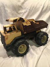 Collectible Old Vintage Yellow Pressed Steel Tonka Dump Truck- Needs Work